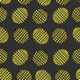 El modelo inconsútil de óvalos señala en color amarillo y negro Imágenes de archivo libres de regalías