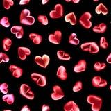 El modelo inconsútil de 3d rinde los corazones brillantes para el día de tarjetas del día de San Valentín Ejemplo del amor, datac Imágenes de archivo libres de regalías