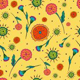 El modelo inconsútil de la flor es amarillo libre illustration