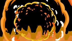 El modelo inconsútil del fondo de la historieta del extracto del garabato de la animación de líneas coloridas de lujo pintó textu stock de ilustración