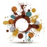 El modelo inconsútil del vector del chapoteo colorido de la tinta con coincidencia circunda libre illustration