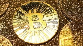 El modelo macro Cleared de Bitcoin de chispas brilla almacen de video