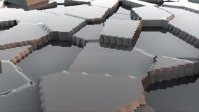 El modelo moderno de la superficie 3d del terreno estilizado abstracto, 3d rinde el contexto, ordenador que genera el fondo stock de ilustración