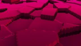 El modelo moderno de la superficie 3d del terreno estilizado abstracto, 3d rinde el contexto, ordenador que genera el fondo libre illustration