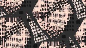 El modelo o el fondo inconsútil geométrico hecho a mano inusual abstracto con brillo, afila las texturas, cepillo pintado ilustración del vector