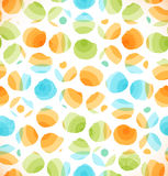 El modelo original abstracto inconsútil con los círculos punteó el fondo multicolor Imagenes de archivo