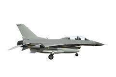 El modelo tridimensional de un avión militar de los países de la OTAN Aviones con la munición llena El armamento del aircr Fotos de archivo