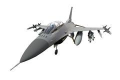 El modelo tridimensional de un avión militar de los países de la OTAN Aviones con la munición llena El armamento del aircr Foto de archivo libre de regalías