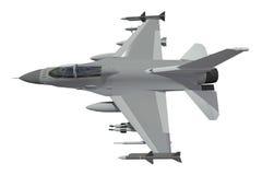El modelo tridimensional de un avión militar de los países de la OTAN Aviones con la munición llena El armamento del aircr Imagen de archivo libre de regalías