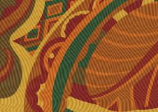 El modelo tropical, sale del fondo marrón inconsútil fotografía de archivo