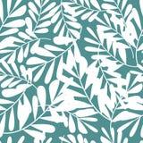 El modelo tropical, vector el fondo floral Modelo inconsútil de las hojas de palma stock de ilustración