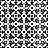 El modelo y el fondo inconsútiles blancos y negros de la repetición vector imagen fotos de archivo