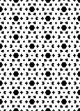 El modelo y el fondo inconsútiles blancos y negros de la repetición vector imagen foto de archivo