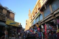 El Moez街道老开罗,埃及 库存图片