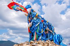 El mojón sagrado llamó un ovoo, Mongolia foto de archivo libre de regalías