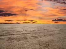 El Mojave Mirażowy zmierzch Fotografia Stock