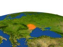 El Moldavia en rojo de la órbita stock de ilustración