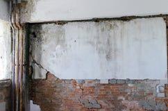 El molde malsano dañó las paredes, los techos y los pisos Fotografía de archivo libre de regalías
