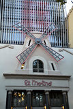El Molino音乐厅在巴塞罗那,西班牙 图库摄影