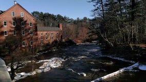 El molino de Sparhawk en Yarmouth Maine almacen de metraje de vídeo