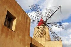 El molino de viento de Mozia Imagen de archivo libre de regalías