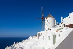El molino de viento de Oia Fotografía de archivo