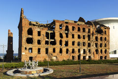 El molino Gerhardt Stalingrad, Rusia fotos de archivo