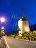 El Molino przy nocą Fotografia Royalty Free