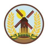 El molino tiene trigo - logotipo de los granos del trigo ilustración del vector