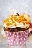 El mollete del carnaval adornado con la naranja asperja Imagenes de archivo