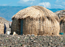EL Molo huts, Lake Turkana, Kenya Royalty Free Stock Photography