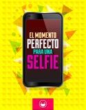 El momento perfecto巴拉una Selfie 皇族释放例证