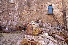 El monasterio arriba afronta Imagen de archivo libre de regalías