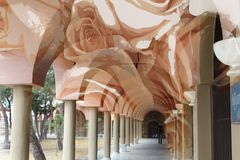 El monasterio beige Imágenes de archivo libres de regalías
