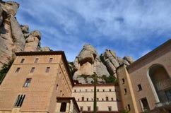El monasterio benedictino de Montserrat (Monasterio de Montserra Foto de archivo libre de regalías