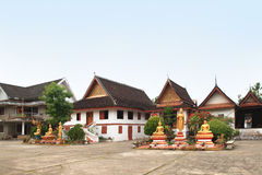 El monasterio budista en Luang Prabang (Laos) foto de archivo libre de regalías