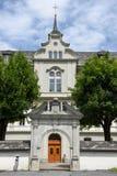 El monasterio de Engelberg en las montañas suizas Fotografía de archivo libre de regalías