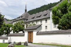 El monasterio de Engelberg en las montañas suizas Imagen de archivo libre de regalías