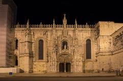 El monasterio de Jeronimos Imagenes de archivo