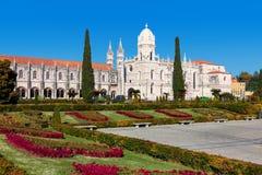El monasterio de Jeronimos en Lisboa, Portugal Fotos de archivo libres de regalías