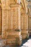 El monasterio de Jeronimos Hieronymites del santo Jerome In Lisbon, Portugal se construye en el ?ltimo estilo g?tico portugu?s de foto de archivo libre de regalías