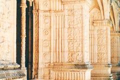 El monasterio de Jeronimos Hieronymites del santo Jerome In Lisbon, Portugal se construye en el ?ltimo estilo g?tico portugu?s de imagenes de archivo