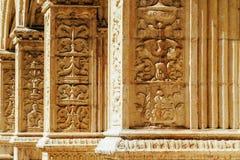 El monasterio de Jeronimos Hieronymites del santo Jerome In Lisbon, Portugal se construye en el ?ltimo estilo g?tico portugu?s de fotografía de archivo libre de regalías