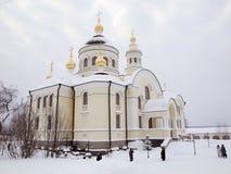El monasterio de la hembra de Novo-Tikhvin. Imagen de archivo libre de regalías