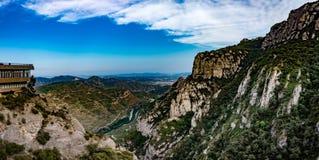 El monasterio de Montserrat fotos de archivo libres de regalías