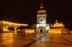 El monasterio De oro-abovedado de San Miguel en Kiev Fotos de archivo