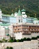 El monasterio de Panteleymon del santo en el monte Athos en Grecia Imagen de archivo libre de regalías