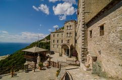 El monasterio de Saint Paul, el monte Athos fotografía de archivo libre de regalías