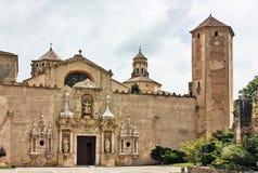 El monasterio de Santa María de Poblet, España Imagenes de archivo
