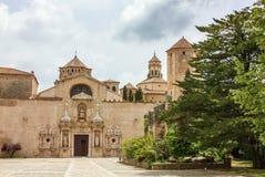El monasterio de Santa María de Poblet, España Imagen de archivo libre de regalías